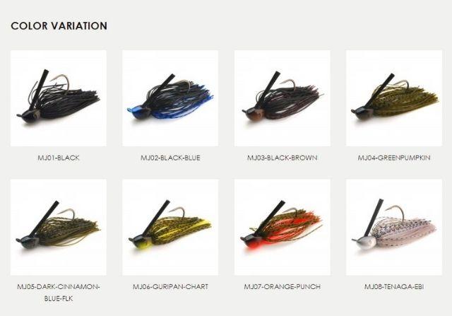 レイドジャパンの「マスタージグ」の色は全8種類展開!